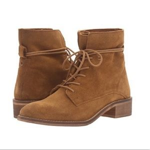 Steve Madden Rosaly Suede Lace-Up Bootie Size 8.5